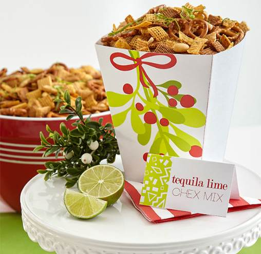 tequila lime chex mix holiday snacks