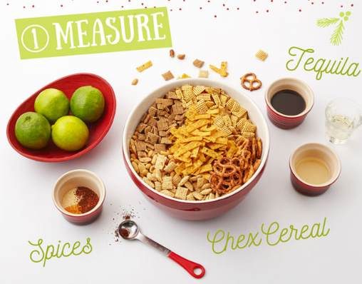 tequila lime chex mix homemade holiday snacks recipe