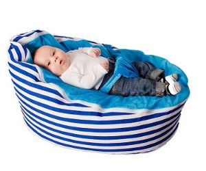 Baby Bean Bag - (Blue Stripe) - Filled