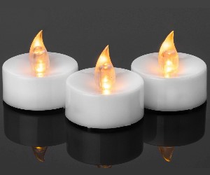 battery powered flickering led candles tealights party decor