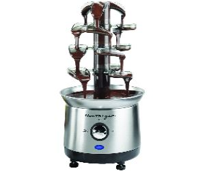 cascading chocolate fountain fondue hot chocolate