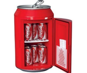 Coca-Cola Can-Shaped Fridge