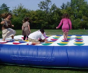giant inflatable twister game kids