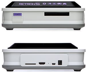 hyperkin retron 5 gaming system frontback