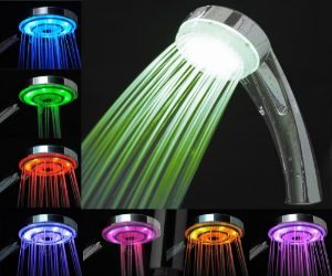 Luxury Bathroom LED Shower Head for Ambient Lighting in 7 Colors