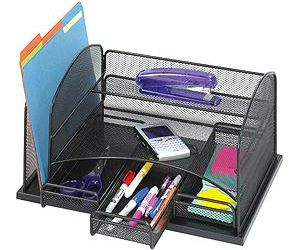 Onyx Organizer with Three Drawers, Black