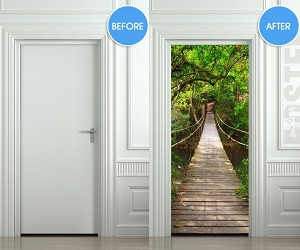 Rope Bridge Door Sticker