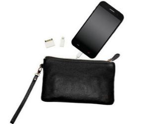 smartphone charging wallet portable phone charger