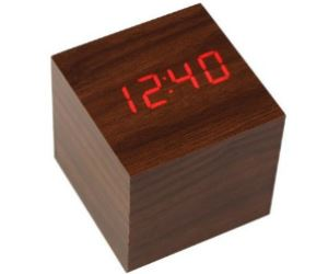 sound activated cube desk clock