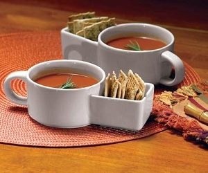 soup cracker ceramic mugs set